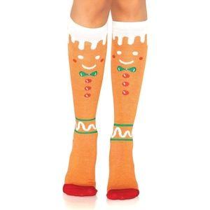Leg Avenue Gingerbread Men Knee High Socks